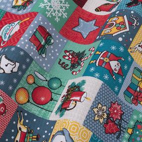 Ткань на отрез вафельное полотно 50 см 5595/1 Новогодние подарки фото