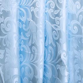 Маломеры портьерная ткань 150 см 17 цвет голубой вензель 1 м фото