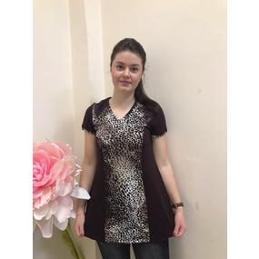 Туника Даша вискоза леопард В18 р 60 фото