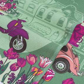 Набор вафельных полотенец 3 шт 45/60 см 3017/2 Презент цвет зеленый фото