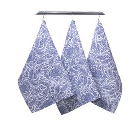 Набор полотенец рогожка 3 шт 45/60 см 3045-1 Персия цвет синий фото