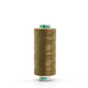 Нитки бытовые Dor Tak 40/2 366м 100% п/э, цв.495 оливковый фото