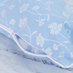 Наперник тик Китай 49/18 кант молния Цветы цвет голубой фото