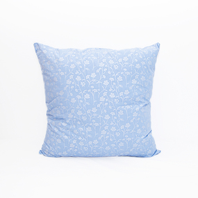 Подушка Лебяжий пух 215 Ромашки цвет голубой серебро 60/60 фото