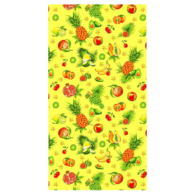 Полотенце вафельное пляжное 348/3 Тропические фрукты 150/75 см фото