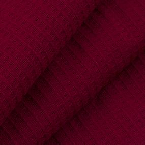 Вафельное полотно гладкокрашенное 150 см 165 гр/м2 цвет вишня фото