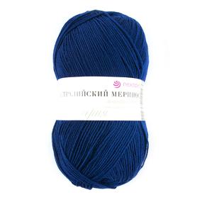 Пряжа для вязания ПЕХ Австралийский меринос 100гр/400м цвет 571 синий фото