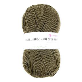 Пряжа для вязания ПЕХ Австралийский меринос 100гр/400м цвет 423 болото фото
