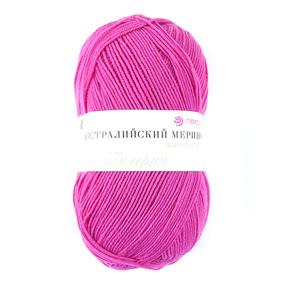 Пряжа для вязания ПЕХ Австралийский меринос 100гр/400м цвет 470 яркий амарант фото