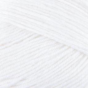 Пряжа для вязания ПЕХ Детский каприз 50гр/225м цвет 001 белый фото