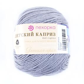 Пряжа для вязания ПЕХ Детский каприз 50гр/225м цвет 048 серый фото