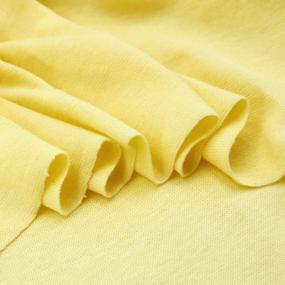 Ткань на отрез рибана с лайкрой М-2013 цвет светло-желтый фото