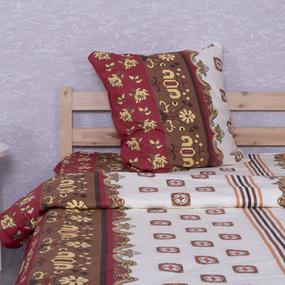 Постельное белье из бязи ГОСТ 784/1 Персия красный 1.5 сп с 1-ой нав. 70/70 фото