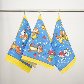 Набор вафельных полотенец 3 шт 45/60 см 329А цвет синий фото