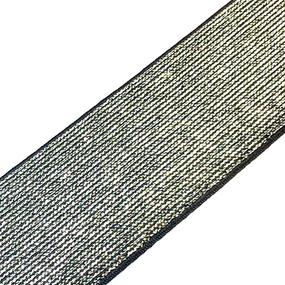 Резинка декоративная 2283 черный с люрексом 4см 1 метр фото