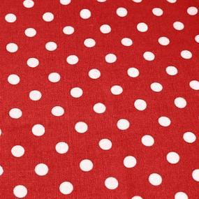 Ткань на отрез лен TBY-DJ-33-6 Горох на красном фото