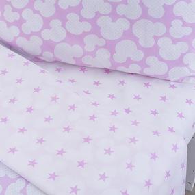 Постельное белье в детскую кроватку 105 Микки розовый фото