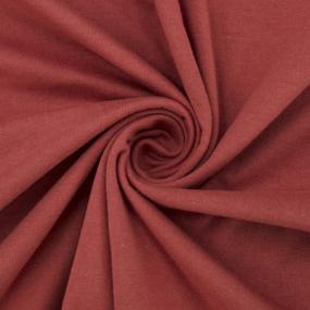 Ткань на отрез кулирка 3672 цвет терракотовый фото