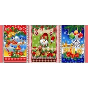 Ткань на отрез вафельное полотно набивное 150 см 11492/1 Новогодняя сказка фото