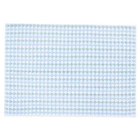 Полотенце-коврик махровое Musivo ПЦ-516-02484 50/70 см цвет 20000 бело-голубой фото