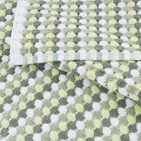 Полотенце-коврик махровое Musivo ПЦ-516-02484 50/70 см цвет 50000 бело-салатовый фото