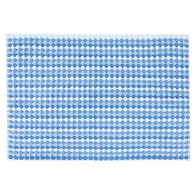 Полотенце-коврик махровое Musivo ПЦ-516-02484 50/70 см цвет 30000 бело-синий фото