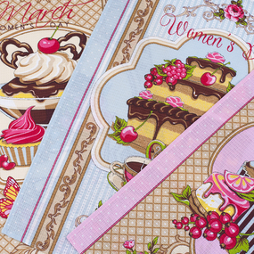 Набор вафельных полотенец 3 шт 45/60 см 11534/1 Десерт фото