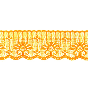 Кружево капрон 45 мм/10 м цвет 723 оранжевый фото