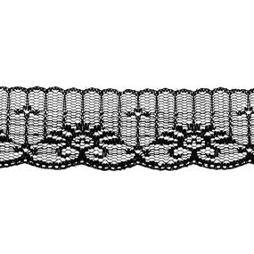 Кружево капрон 45 мм/10 м цвет 723 черный фото