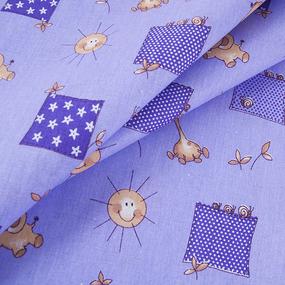 Бязь ГОСТ детская 150 см 366/5 Жирафики цвет фиолетовый фото