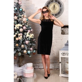 Платье Розалинда черное Д511 р 56 фото