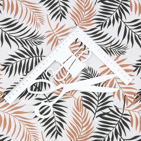 Ткань на отрез супер софт 2400 Монстера цвет кирпичный фото