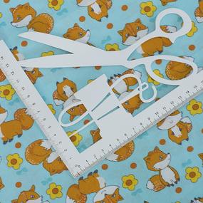 Ткань на отрез бязь ГОСТ Шуя 150 см 9950/2 Лисички фото