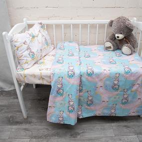 Простыня перкаль детский 13233/1 Owls Модель 5 110/150 см фото