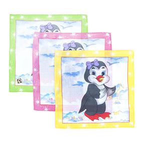 Платки носовые детские 20х20 Пингвиненок (12 шт) фото