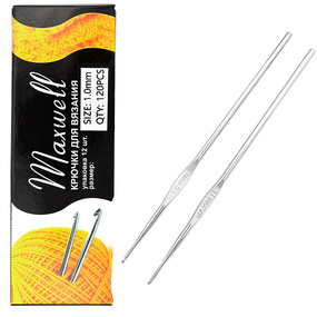 Крючок для вязания Maxwell Black артТВ-CH03 1,0 мм фото