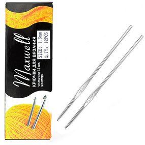 Крючок для вязания Maxwell Black артТВ-CH03 1,6 мм фото