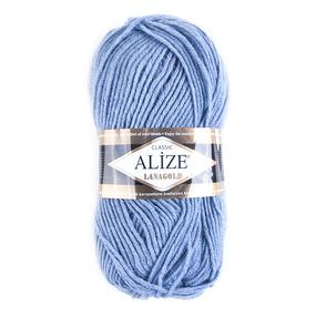 Пряжа для вязания Ализе LanaGold (49%шерсть, 51%акрил) 100гр цвет 221 светлый джинс фото