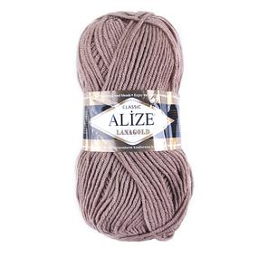 Пряжа для вязания Ализе LanaGold (49%шерсть, 51%акрил) 100гр цвет 584 кофе с молоком фото