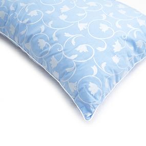 Подушка Лебяжий пух Вензель цвет голубой 70/70 фото
