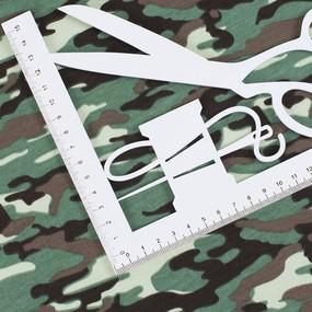 Ткань на отрез футер лайкра пенье Камуфляж В R163 фото