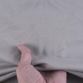 Ткань на отрез рибана лайкра карде Opal Gray 9054 фото