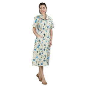 Халат домашний женский на пуговицах, рукав короткий, бязь набивная 100% хлопок, 42 уценка фото