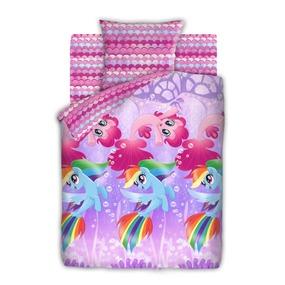 КПБ 1.5 бязь My Little Pony (50х70) рис. 8918-1/8919-1 Подводные пони фото