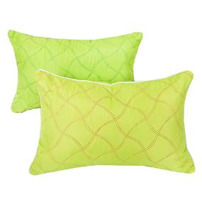 Подушка декоративная чехол шелк ультрастеп зеленый 40/60 фото