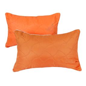 Подушка декоративная чехол шелк ультрастеп оранжевый 40/60 фото
