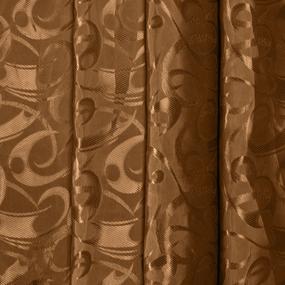 Портьерная ткань 150 см на отрез 10-2 цвет коричневый фото