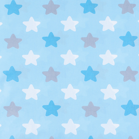 Набор детских пеленок поплин 4 шт 73/120 см 1798/3 цвет бирюза фото