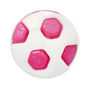Пуговица детская сборная Мяч 16 мм цвет малиновый упаковка 24 шт фото