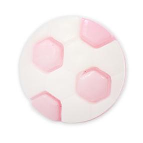 Пуговица детская сборная Мяч 16 мм цвет св-розовый упаковка 24 шт фото